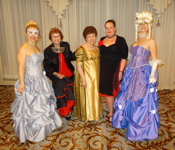 Female Board Members at the Masquerade Ball event